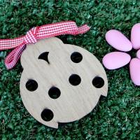 Coccinella in legno