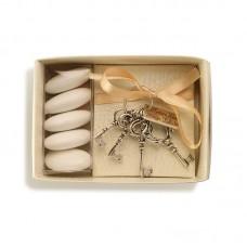 Mazzo 4 chiavi con targa